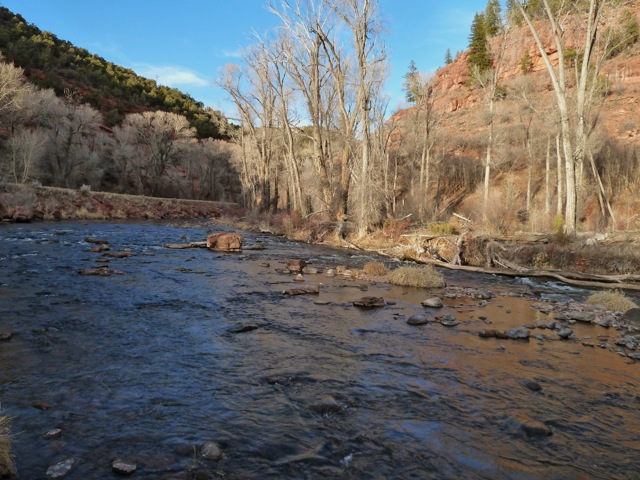 The lower Fryingpan River in March.