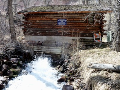 About 9 cfs of water flowing out of the Maroon Creek hydro plant on April 9, 2012.