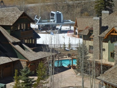 The Timbers Club at the base of Snowmass Ski Area. A number of billionaires own condos, or parking spaces, at the Timbers Club.