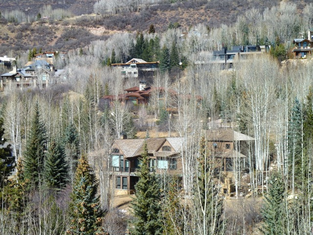 Lower Red Mountain in Aspen, where several billionaires have homes.