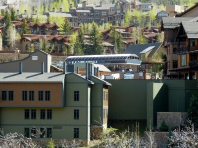 The Elk Camp gondola is at the heart of the stalled Base Village project. The condos above the gondola are outside of the project's boundaries