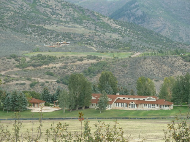 The main residence at High Mesa Ranch with a portion of the regraded property in the foreground.