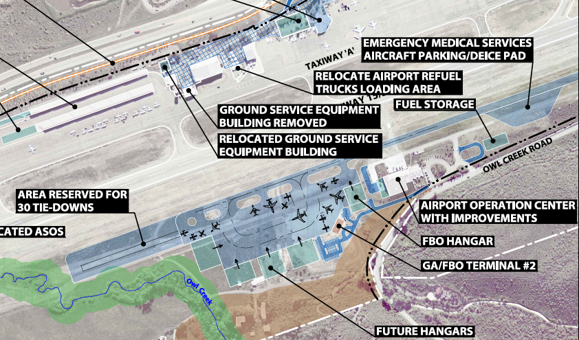 Aspen Airport Map West side layout | Aspen Journalism