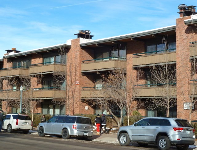 The Aspen Square, a condo-hotel in downtown Aspen across the street from Aspen Mountain. It is convenient, but its 8-foot ceilings are seen as a negative by some visitors.