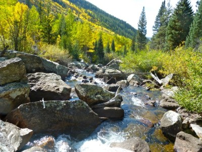 Much of the flow of Hunter Creek is diverted to the Eastern Slope through the Fry-Ark Project, but the creek is still a compelling part of the valley.