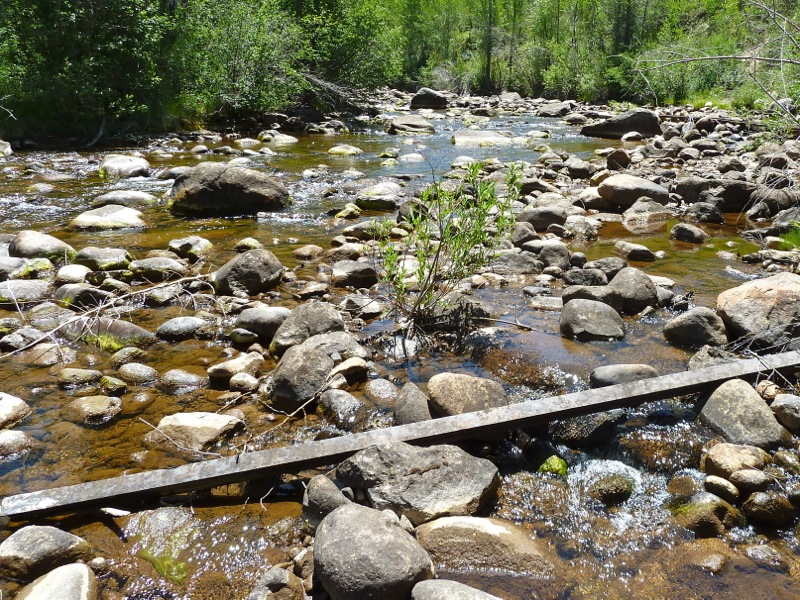 A low-flowing Roaring Fork River east of Aspen in June, 2012.