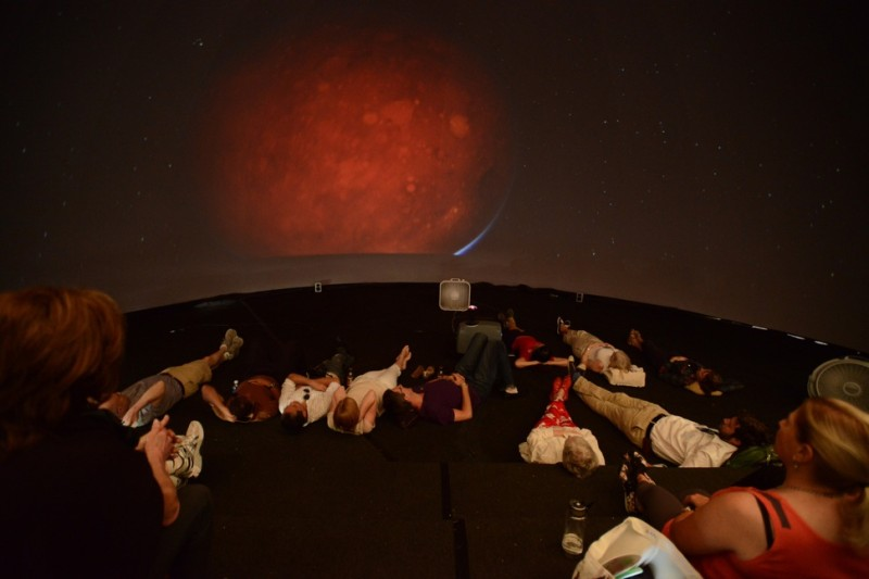 The inside of the planetarium during Ideas Fest was a mind-altering place.