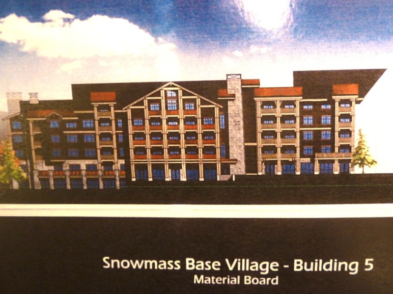 A rendering of Building 5 in Base Village.