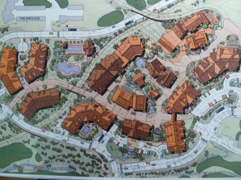 A drawing of the layout of Base Village.