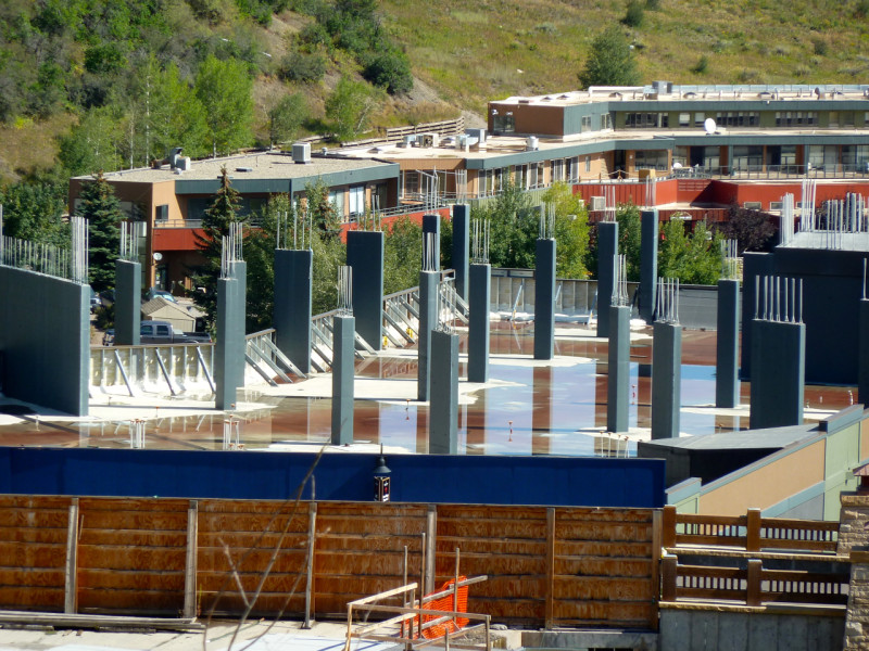 The unfinished Building 8 n Base Village, once planned to operate as a Little Nell Snowmass hotel. Related, the developers of the project, are making new plans for the building.