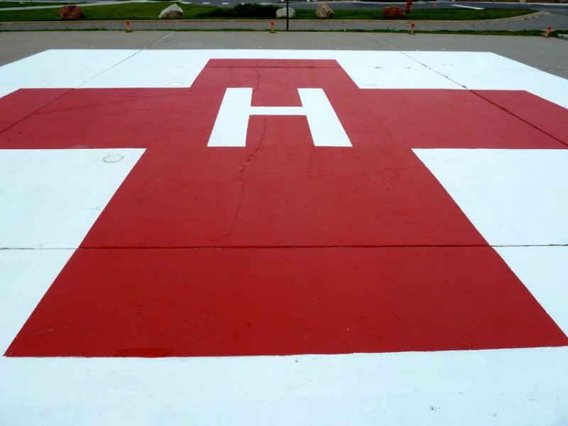The helipad at Aspen Valley Hospital. If you are coming, or going, to AVH via this spot, costs may be the furthest thing from your mind.