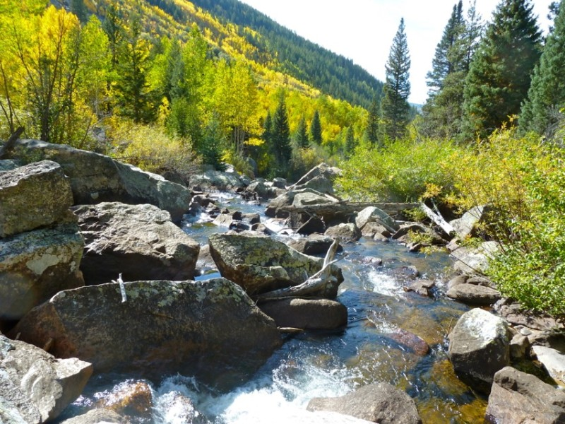 Hunter Creek itself is a delightful stream - although it is diverted to the Front Range, and to locations downvalley from Aspen.