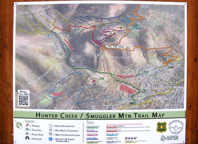 The plan for the Hunter-Smuggler area includes more signage on the trails.