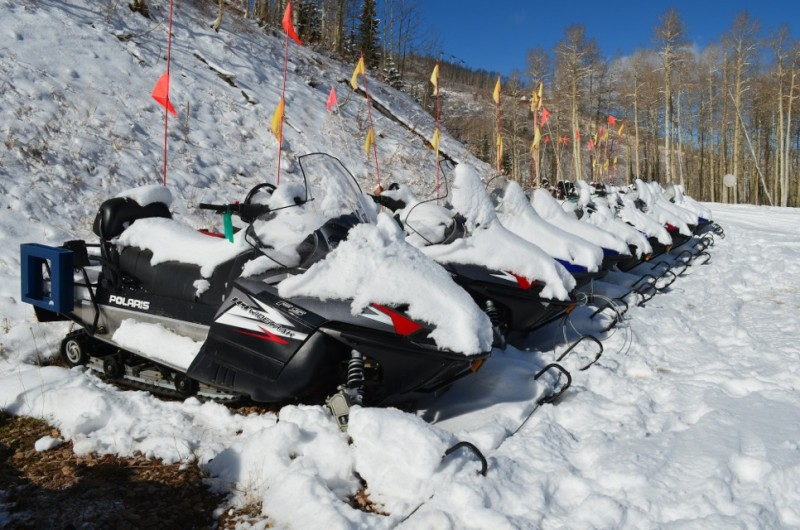 Park City has reduced its snowmobile fleet by 30 percent, and half of the remaining vehicles are four-stroke, rather than two-stroke, engines. This reduces pollutants, including greenhouse gases.