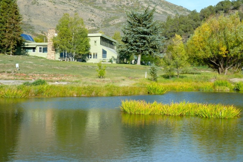 The office building currently used by most of the local employees of the Rocky Mountain Institute.