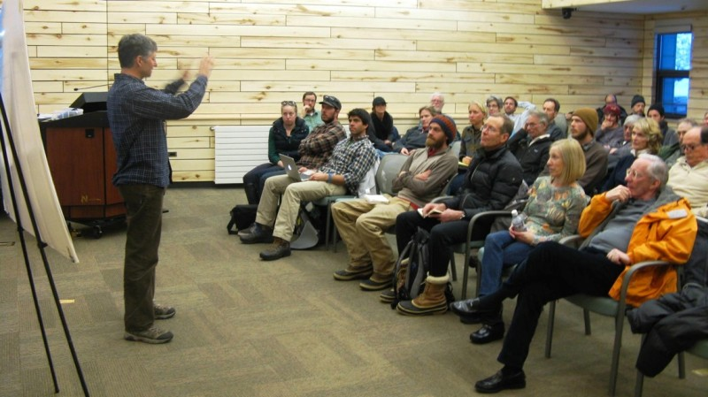 Gary Tennenbaum, assistant director for Pitkin County Open Space and Trails, at an organizational meeting at Basalt Library on Feb. 3.