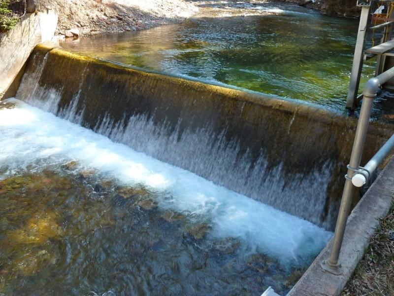 The City of Aspen's diversion structure on Castle Creek.