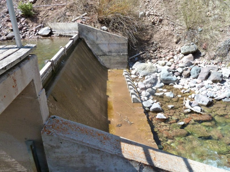 The City of Aspen's diversion structure on Maroon Creek, just above T-Lazy-7 Ranch.