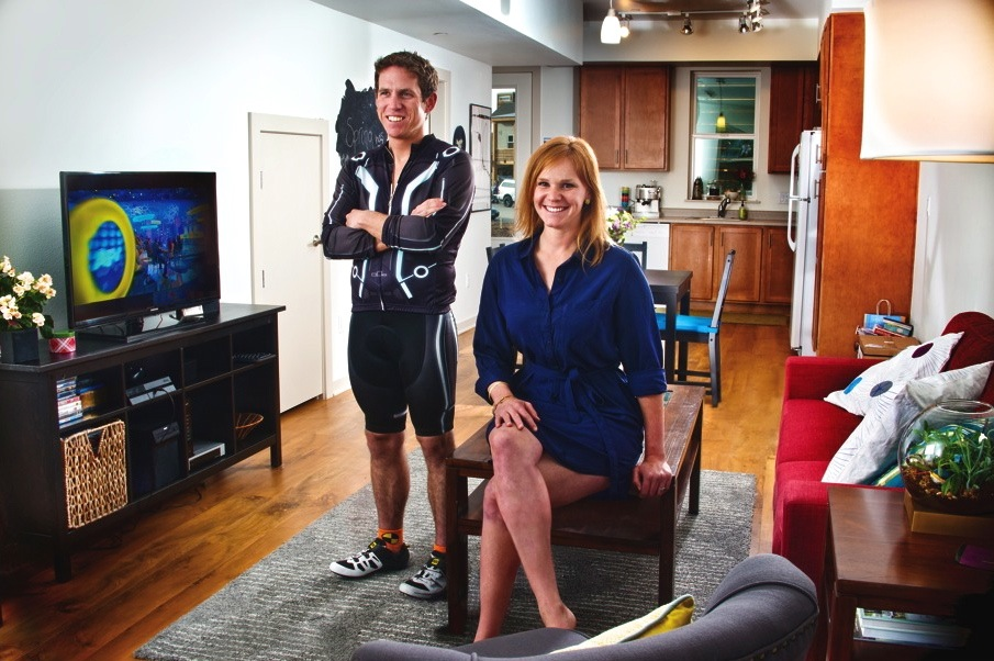 Barbara Lish and Jesse Morris at their home in Burlingame.