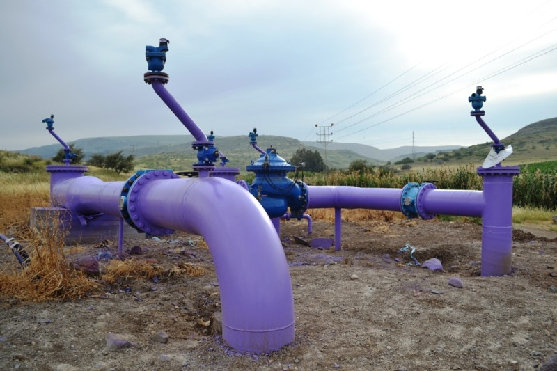 Throughout Israel one sees evidence of a vast plumbing network furnishing valuable water to agriculture, industry and municipalities.