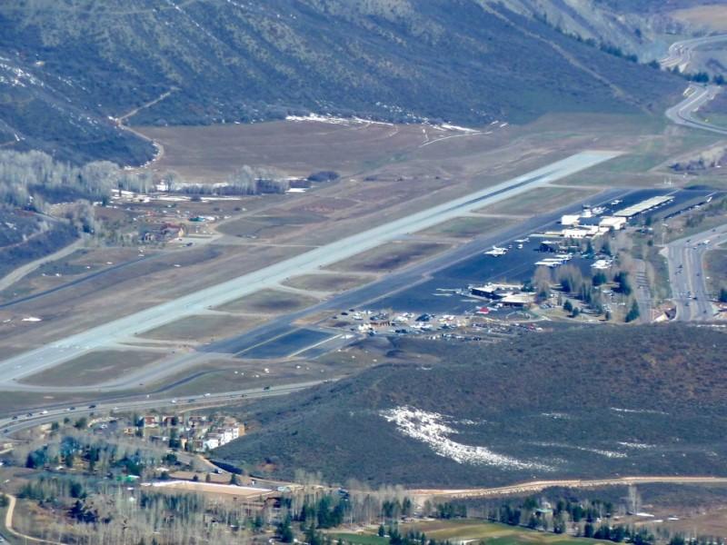 The runway at the Aspen-Pitkin County airport may need to be moved 80 feet to the west if Aspen wants to accommodate the next generation of regional commercial jets and build a new FBO on the west side of the runway, which is to the left in photo, taken in April 2013.