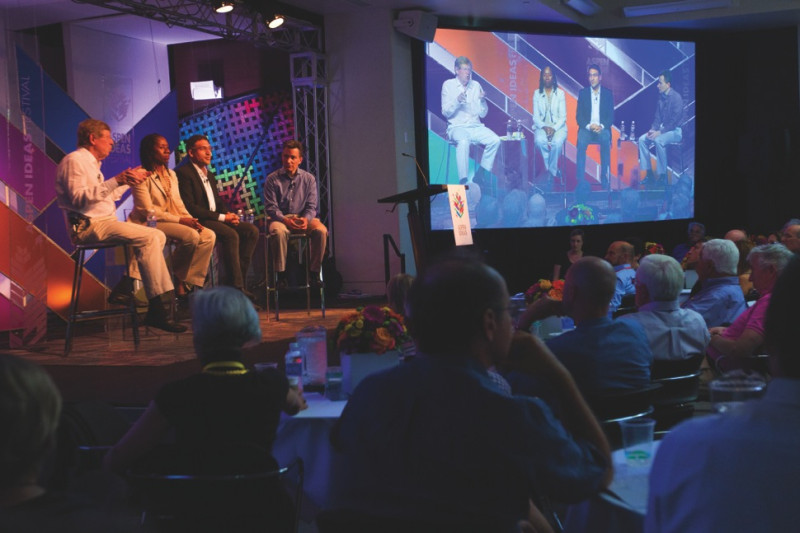 Left to right, panelists Ted Olson, Sherrilyn Ifill, Neal Katyal, and moderator Jeff Rosen, at the Aspen Ideas Festival on Wednesday, July 2, 2014