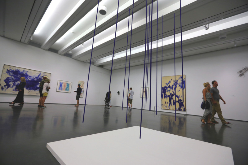 The main gallery at the new Aspen Art Museum on opening day, Sat., August 9, 2014.