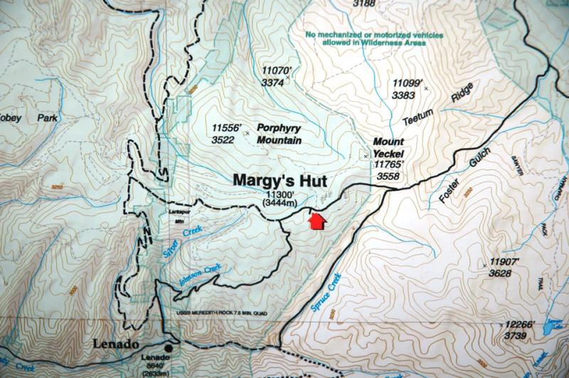 Margy Hut map