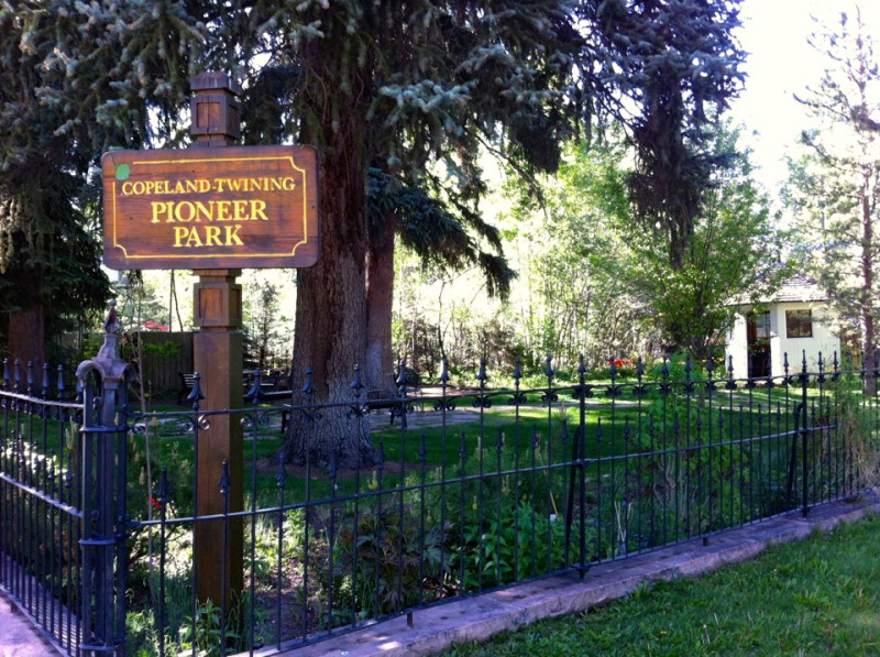 Pioneer Park in the West End looks old but really isn't. It came about through a lot split in 1993, a $75,000 contribution from the Aspen Historic Trust and hard work by a citizens Les Holst and Maggie Dewolf.