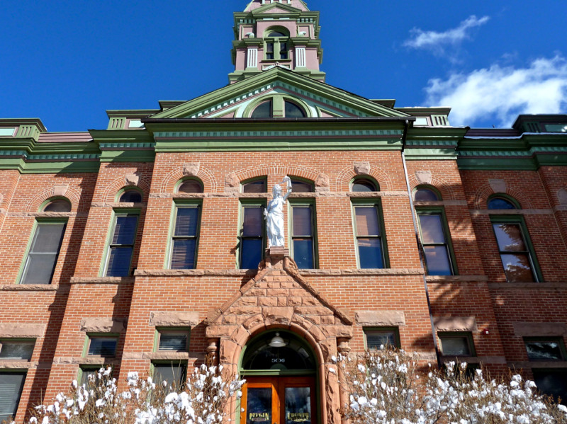 The Pitkin County Courthouse in Aspen. All ballots for the November 2014 election have been sent to local voters.