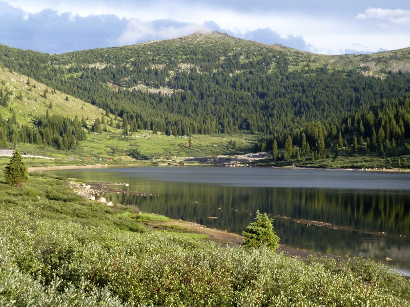 Ivanhoe Reservoir, looking toward the Continental Divide.