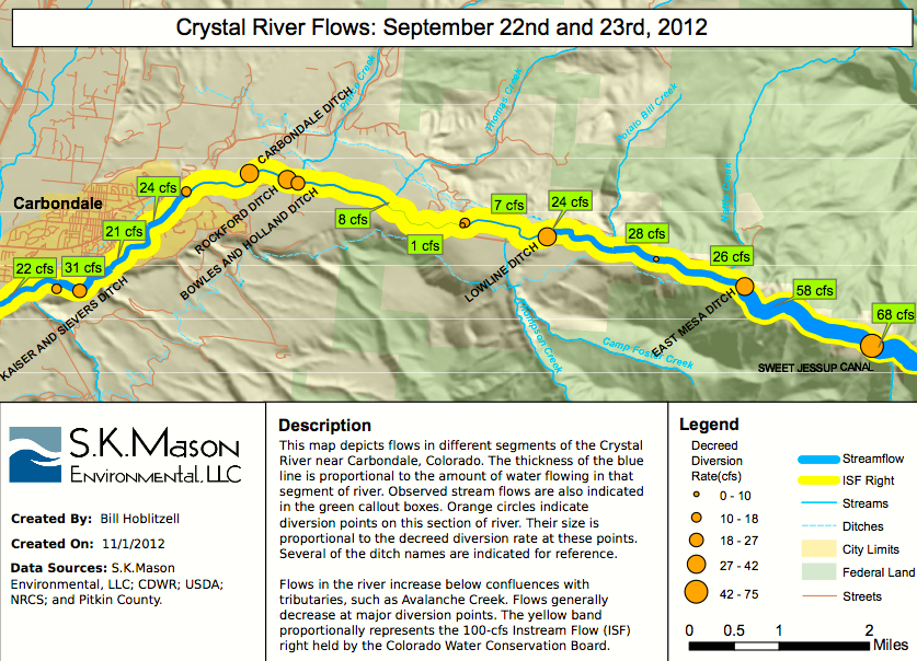 A graphic from the Snapshot Assessment of the Roaring Fork Watershed , a report done by Seth Mason and dates Feb. 13, 2013.
