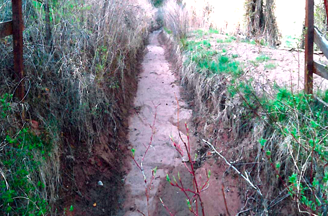A portion of the East Mesa Ditch.