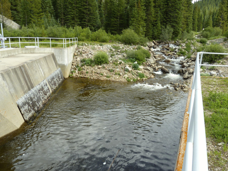 This transmountain diversion in the headwaters of the Fryingpan River is one of many that currently send water from the West Slope to the East Slope.