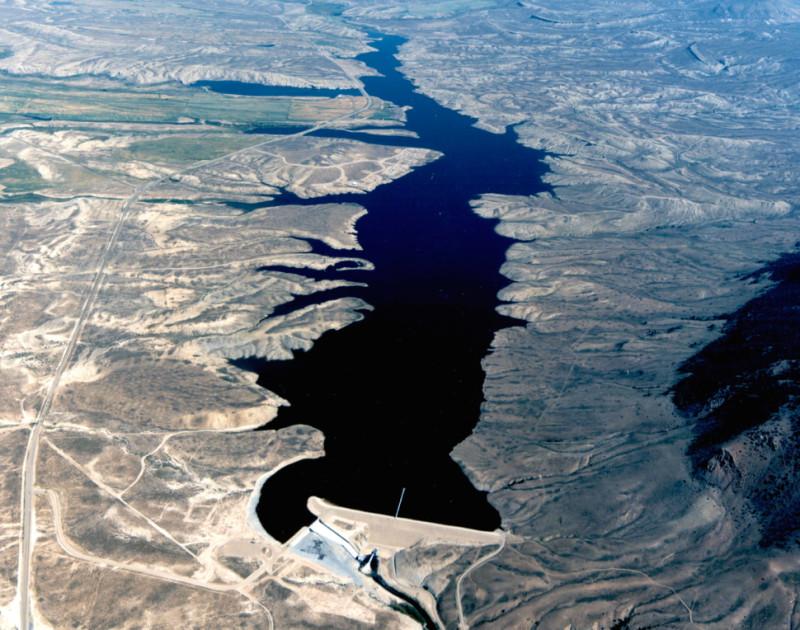Wolford Reservoir aerial
