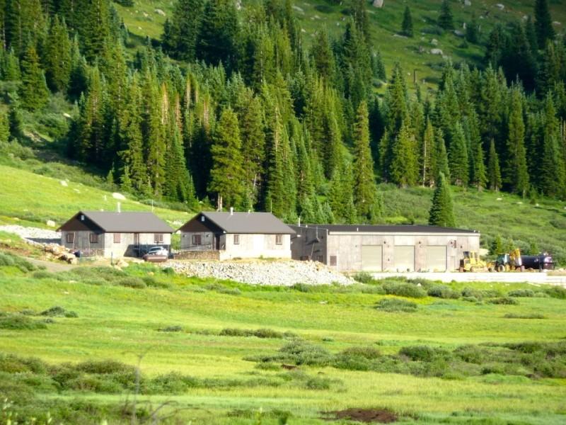 Buildings at Ivanhoe Reservoir.
