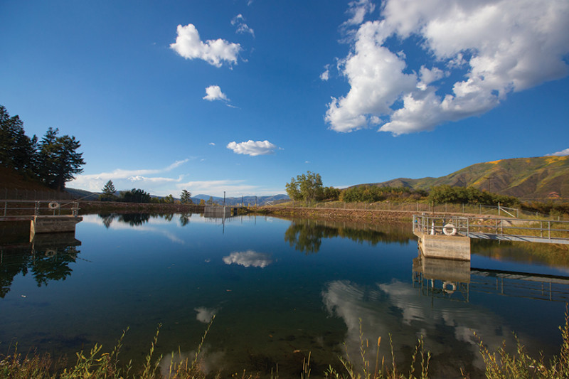 The city of Aspen's Leonard M. Thomas Reservoir, next to the city's water treatment plan, can hold water from both Castle and Maroon creeks.