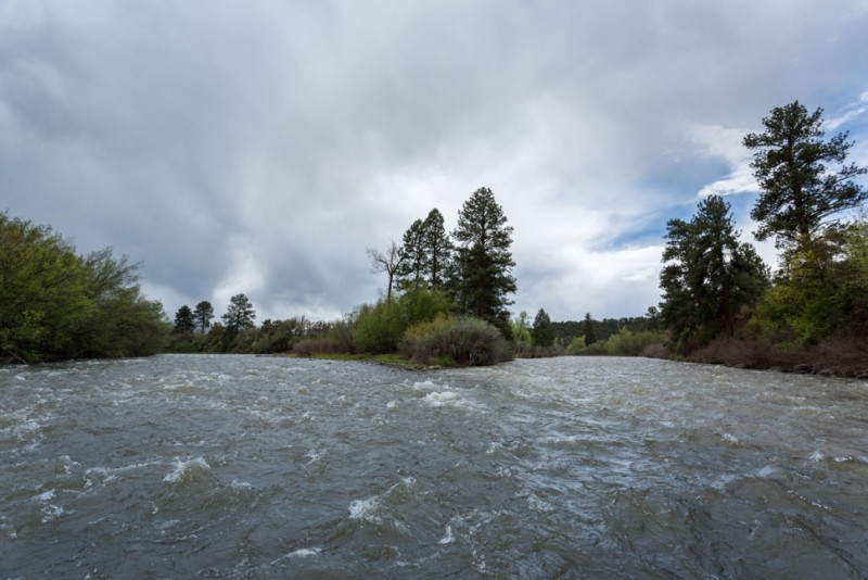 Looking back upstream at the confluence of the Roaring Fork River, left, and the Crystal River, on May 13, 2015.