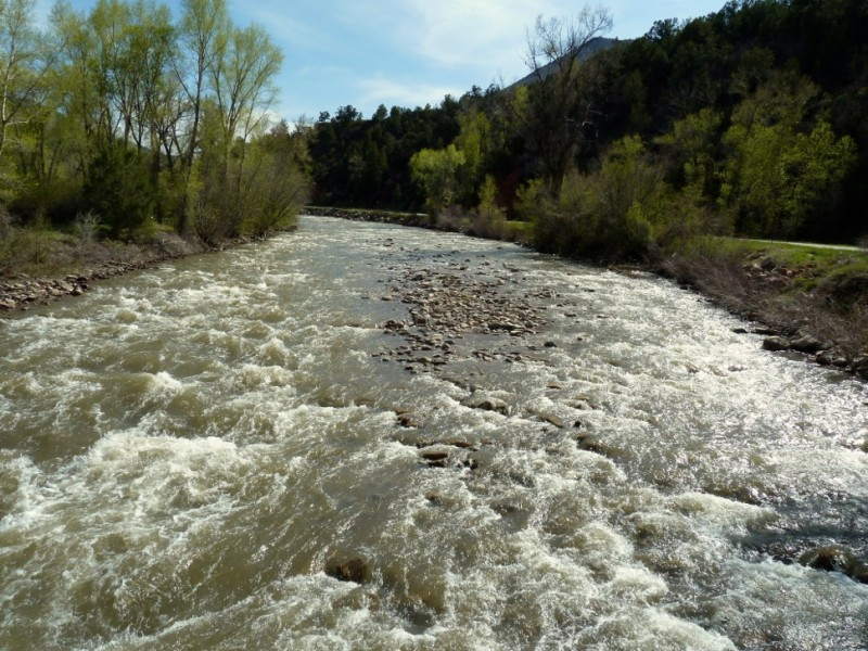 The Crystal River in May of 2014. There are many times in late summer where the Crystal River runs below the state's instream flow rights.