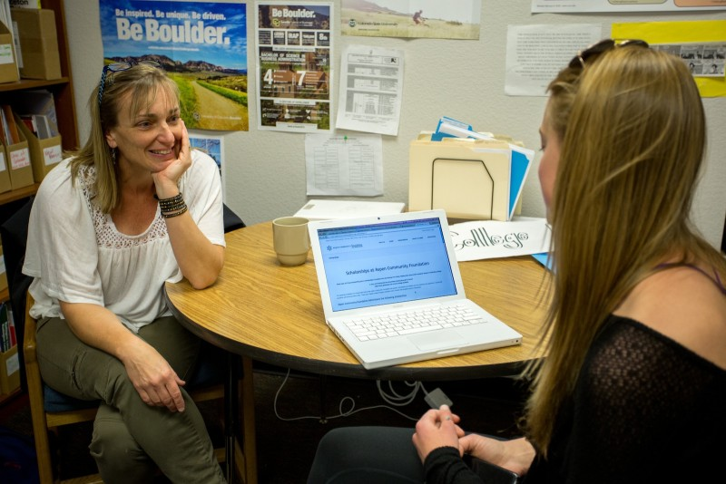 Elizabeth Penzel, left, college counselor at Basalt High School, says the school's ethnic and demographic diversity has made her more versatile in the way she works with students and families.