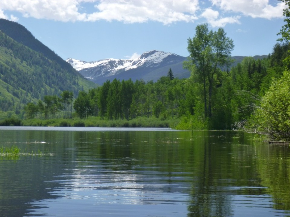 A view from what  some local boaters are calling North Star Lake or Lake Stillwater also known as the Roaring Fork River in flood stage. The river just barely reached the official flood level early Wednesday, June 17.