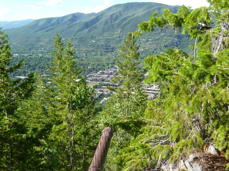 The cut end to a cable used on  the Aspen Mountain Public Tramway where the first traction station stood on Spar Point above Kleenex Corner, overlooking downtown Aspen. Most likely, this is the cut cable described in the Aspen Chronicle story called Coward's Deed.