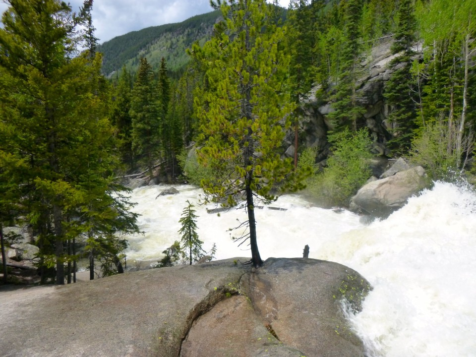The Roaring Fork River east of Aspen in June 2015, at high water.