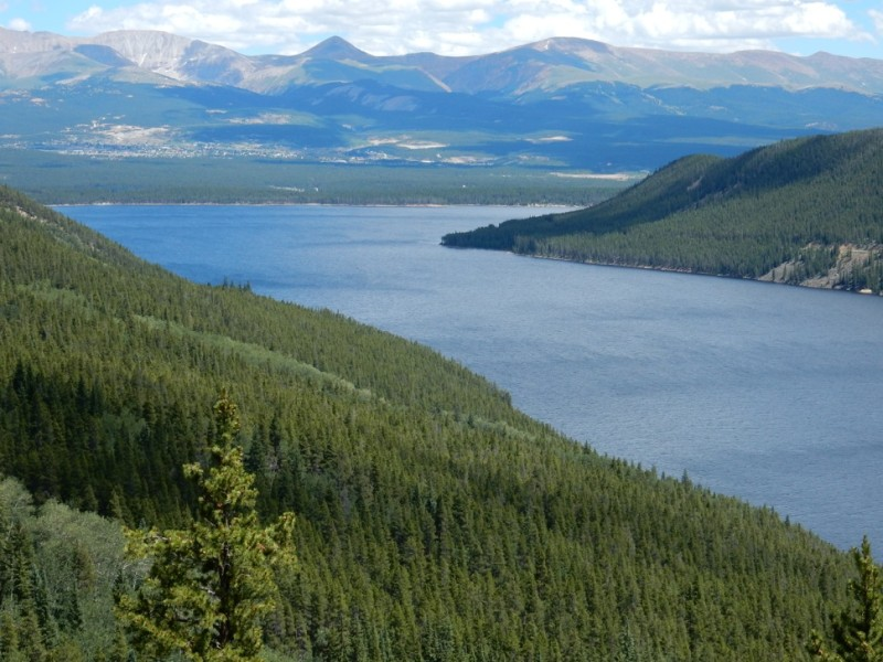 Turquoise Reservoir, which stores water brought under the Continental Divide from the Eagle, Fryingpan and Roaring Fork river headwaters.