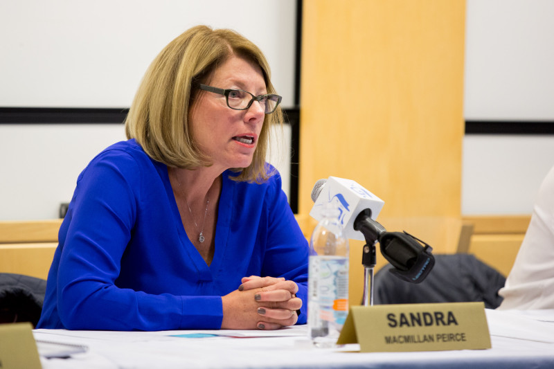 Incumbent school board member Sandra Peirce