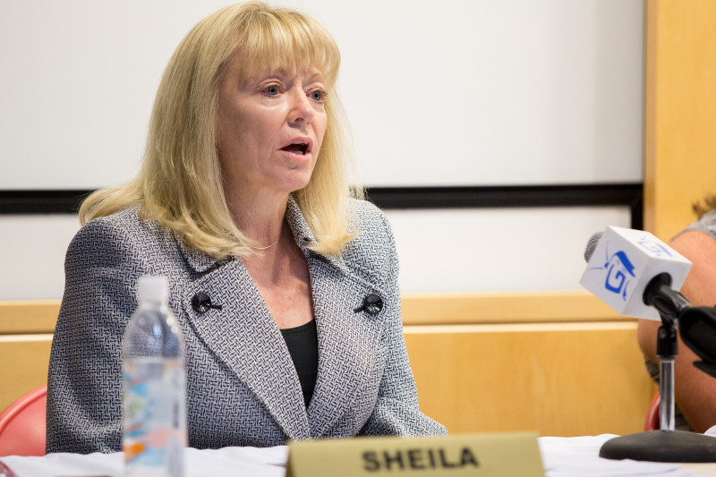 Incumbent school board member Sheila Wills