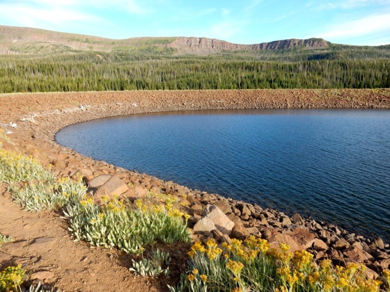 One of a number of dams on the headwaters of the Yampa River. Interests on both the West and East slopes are eager to see more water storage project build in Colorado.