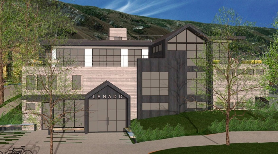 A rendering of the front of the Hotel Lenado in the Nov. 17, 2015 packet.