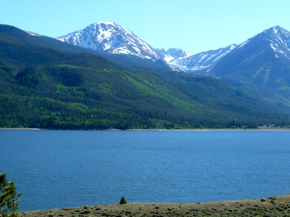 The Twin Lakes Reservoir in Twin Lakes, Colorado plays a key role in moving water from the Roaring Fork and Fryingpan rivers to cities on the Eastern Slope.