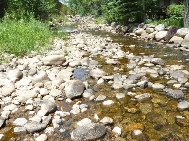 The Roaring Fork River in central Aspen in July 2012.